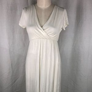 NWOT Rags & Couture Medium Maxi Dress Ivory